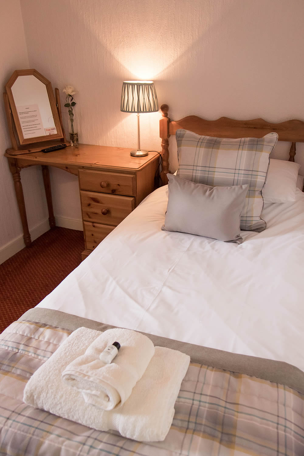 Bedroom accommodation at Templehall Hotel, Morebattle, Scottish Borders